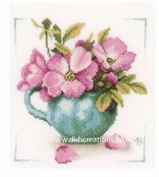 Wild Roses Cross Stitch Kit